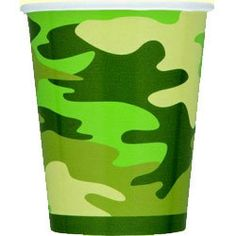 Party Time Celebrations - Camo Party Paper Cups, $6.95 (http://www.partytimecelebrations.com.au/camo-party-paper-cups/)