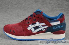 Womens And Mens Asics Gel Lyte III Sneaker H30QK Wine|only US$95.00 - follow me to pick up couopons.