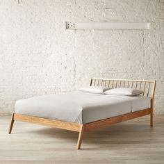 Windsor Oak Natural Bed Queen Garden Furniturecool