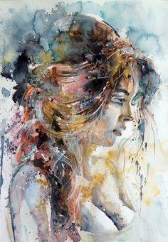 Girl in gold, by Kovacsannabrigitta.