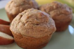 Whole Wheat Banana Zucchini Muffins via @No Diets Allowed