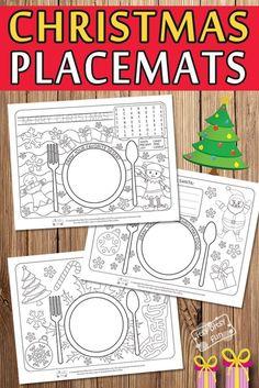 Printable Christmas Placemats - Itsy Bitsy Fun - Free Printable Christmas Placemats for Kids - Christmas Colors, Christmas Art, Christmas Themes, Christmas Holidays, Christmas Nativity, Christmas Movies, White Christmas, Christmas Activities For Kids, Preschool Christmas