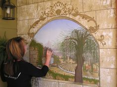 painting mural ~ Ellen (Ellie) van Dijken-Ellis