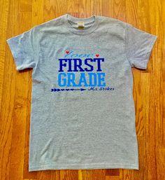 00ab18c403fe5 Items similar to Custom Teacher T-shirt  Personalize Teacher T-shirt  Love  Teaching T-shirt on Etsy