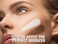 How to apply the perfect bronzer Bronzer Vs Contour, Shimmer Bronzer, Bronzing Brush, How To Apply Bronzer, Bronzer Makeup, Best Bronzer, How To Apply Blush, Bronzer Tutorial, Bronzers For Dark Skin