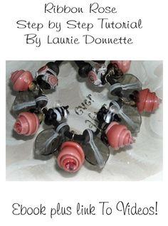 Ribbon Rose Lampwork Tutorial Ebook with Video link. $13.00, via Etsy.