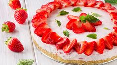 No Bake Sugar Free Strawberry Cheesecake
