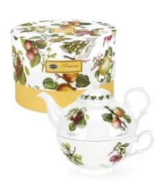 tea for one - orchard design with cake box