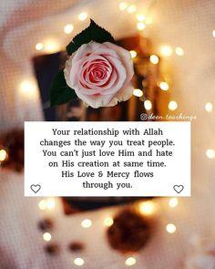 Beautiful Islamic Quotes On Love Allah Quotes, Muslim Quotes, Arabic Quotes, Hindi Quotes, Quotations, Love In Islam, Allah Love, Islamic Teachings, Islamic Dua