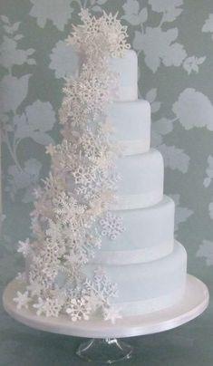 Snowflake Wedding Cake, Floral Wedding Cakes, Fall Wedding Cakes, Beautiful Wedding Cakes, Wedding Cake Toppers, Wedding Decor, Wedding Ideas, Wedding Themes, Wedding Bouquet