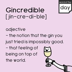 Cheers! Word Of The Day, Top Of The World, Gin, Cheers, Feelings, Words, Memes, Recipes, Meme