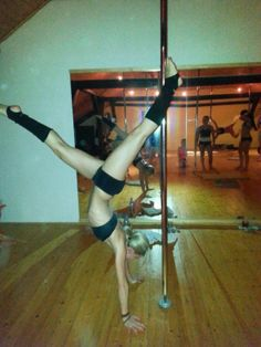 The first succes in pole dance!