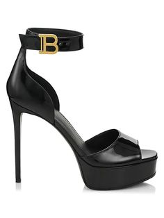 Balmain Savera Leather Sandals | SaksFifthAvenue