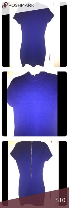 Royal blue turtle neck sweater dress Bodycon dress. Very form fitting. Stretchy and comfortable. Forever 21 Dresses Mini