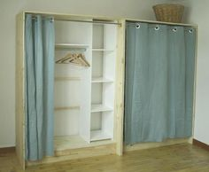 Diy closet, what a creative way to add storage to any room. Diy closet, what a creative way to add storage to any room. Wardrobe Closet, Closet Bedroom, Closet Space, Bedroom Decor, Loft Bedrooms, Attic Closet, Wardrobe Storage, Closet Doors, Diy Dressing