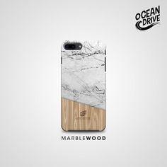 Marble Wood Pattern Print Custom Case.
