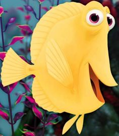 "Bubbles is a yellow tang fish and a supporting character from 2003 Disney/Pixar film Finding Nemo and its sequel Finding Dory. He was bought by the dentist from a store called ""Fish-o-rama."" Bubbles is a hyperactive yellow tang fish. He has a peculiar obsession over the bubbles that come out of a small treasure chest decoration in the fish tank; hence his name. He eventually escapes with the rest of the tank fish into the ocean. During the credits, Bubbles notices some bubbles that appear…"