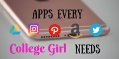 Apps Every College Girl Needs College Life, College Girls, Iphone Home Page, Technology Addiction, Best Apps, Young Women, Survival, Education, Blog