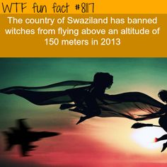 Before you fly to Swaziland on your broom.....  WTF Facts : funny, interesting & weird facts