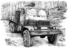 Praga V3S Drawing Sketches, Drawings, Army Vehicles, Jaguar E Type, Cars And Motorcycles, Techno, 4x4, Porsche, Automobile