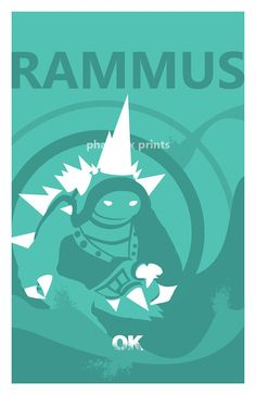 Rammus League of Legends Print by pharafax on Etsy, $16.00