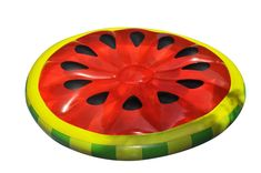 With its fun and delectable design, the Swimline Watermelon Slice Pool Float is bound to be a hit at your next summertime party. This pool float features a transparent red top complete with black seeds, as well as a green and yellow rind border. Food Pool Floats, Pool Floats For Adults, Watermelon Pool Float, Watermelon Slices, Watermelon Birthday, Inflatable Island, Inflatable Raft, Watermelon Designs, Pool Rafts