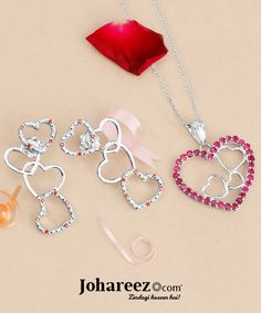 Astonishing heart shape jewellery collection to gift your loved one on this Valentines Day