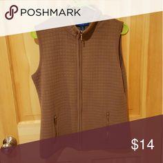 Karen Scott Winter Vest Solid brown with 2 front pockets; very soft Karen Scott Jackets & Coats Vests