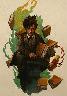 Harry Potter, by Alvaro Tapia, the illustrator of the Swedish Harry Potter…