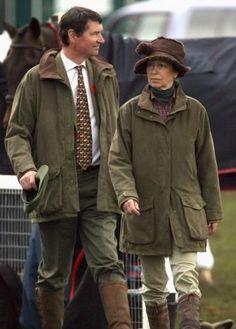 Princess Anne, the Princess Royal, and her husband Tim Lawrence, May 4, 2008