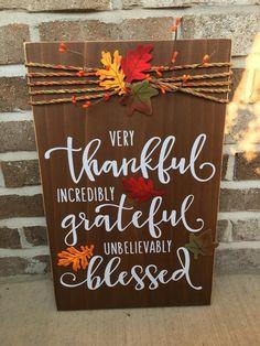 11 x 18 Rustic Wooden Fall / Thanksgiving /Fall | Etsy