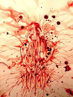paint with blood - Maxime Taccardie