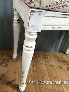 Piano Bench Makeover by A to Z Custom Creations: Websters mixed with Benjamin Moore's Mascarpone