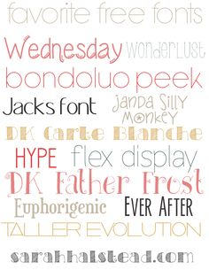 Favorite Free Fonts from In the Moment with...