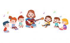 Teacher with kids school Premium Vector Cartoon People, Cartoon Kids, Cartoon Monkey, Kindergarten, School Clipart, Background Design Vector, Kids Vector, Art Drawings For Kids, Painting For Kids