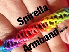 Loom Bandz Spiral Armband Anleitung Deutsch - YouTube