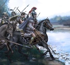 Alexander the Great at the Battle of Granicus River Greek History, Ancient History, Military Art, Military History, Greco Persian Wars, Valhalla, Greek Soldier, Alexandre Le Grand, Punic Wars