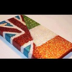 one direction iphone case; sparkly, British, Irish I NEED IT . well and the phone