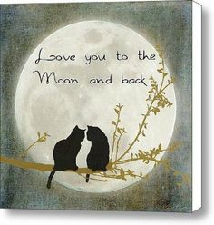 Love you to the moon and back Art Print by Linda Lees. All prints are professionally printed, packaged, and shipped within 3 - 4 business days. Crazy Cat Lady, Crazy Cats, I Love Cats, Cute Cats, Image Chat, Black Cat Art, Black Cats, Back Art, Cat Quotes