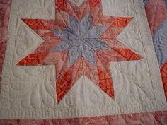 Rose's quilted wall hanging.  Quilted by Ms. Mildred @ Simply Southern in Sparta, TN.  These two ladies can quilt!!!