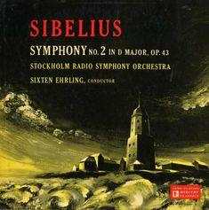 Sixten Ehrling, Stockholm Radio symphony Orchestra- Sibelius: Symphony label: Mercury MG Design: George Maas. Mercury Records, Record Art, Conductors, Classical Music, Orchestra, Stockholm, Nostalgia, Cover, Albums