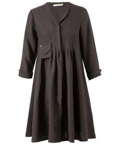 Browns fashion & designer clothes & clothing | JENNY M | Pleated Linen Smock Jacket