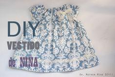 DIY Costura: Cómo hacer vestido de niña con el cuello rizado (patrones gratis)