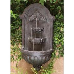 San Marco 35 in. Plum Bronze Finish Wall Fountain-50024PLBZ - The Home Depot