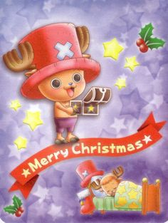 Merry Christmas - One Piece - Chopper One Piece Chopper, Good Anime To Watch, Tv Ads, Fan Art, Manga Anime, Robin, Avatar, First Love, Merry Christmas