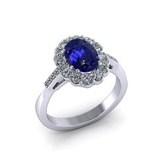 Beautifully crafted by skilled artisans, this Oval Sapphire Diamond Ring sparkles in vibrant blue and white. Jewelry Designs can creates all of their sapphire rings on-site, in the Danbury, CT studio. Sapphire Jewelry, Sapphire Diamond, Sapphire Rings, Jewelry Rings, Fine Jewelry, Diamond Pendant, Artisan, Jewelry Design, Blue And White