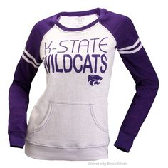 9d932763f545a2 Step Ahead Kansas State Wildcats Juniors Bandage Crew Sweatshirt