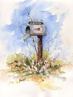 Havlik's Mailbox by Sam Sidders   ArtWanted.com