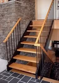 Best A Floatin Walnut Staircase Combines Hand Forged Steel 640 x 480