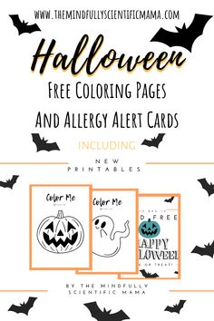 Halloween Coloring Pages & Printables - THE MINDFULLY SCIENTIFIC MAMA Halloween Activities For Kids, Halloween Kids, Halloween Themes, Halloween Party, Happy Halloween, Activity Sheets For Kids, Coloring Sheets For Kids, Free Halloween Coloring Pages, Free Coloring Pages